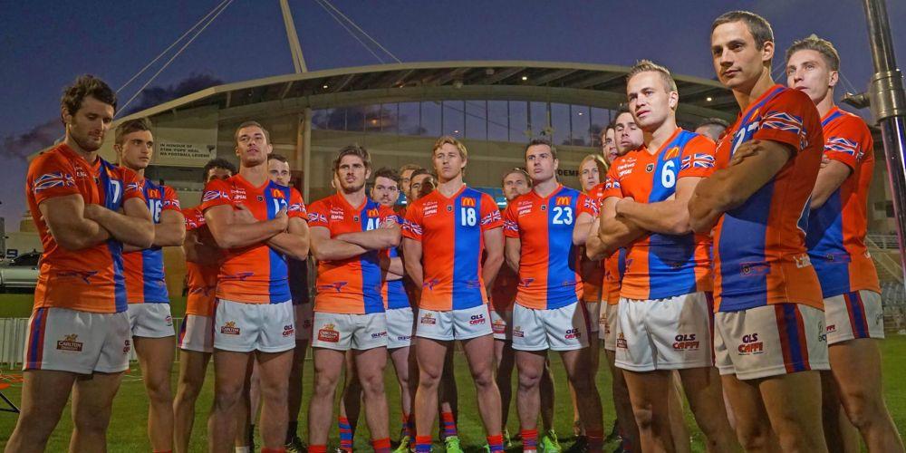 West Perth in their short sleeve jumpers. Pictures: Matt Beilken
