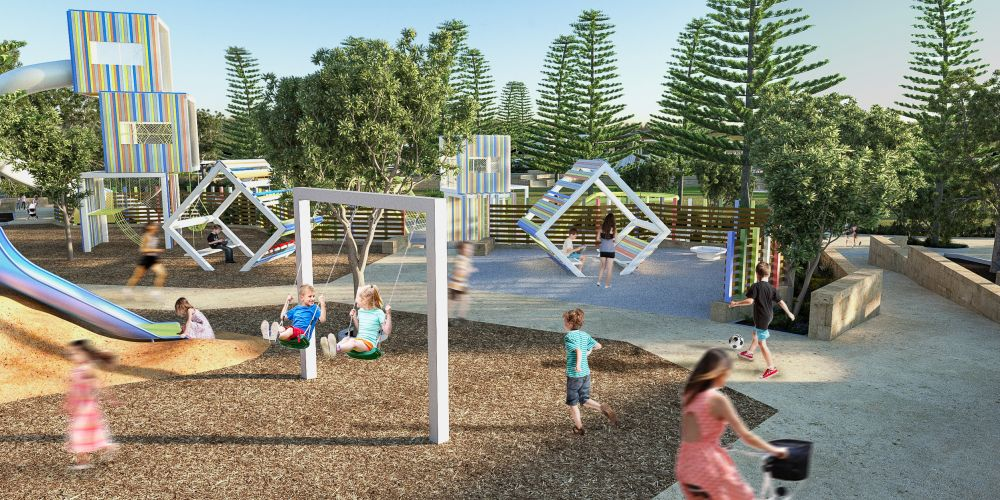 Artist's impression of the foreshore playground.