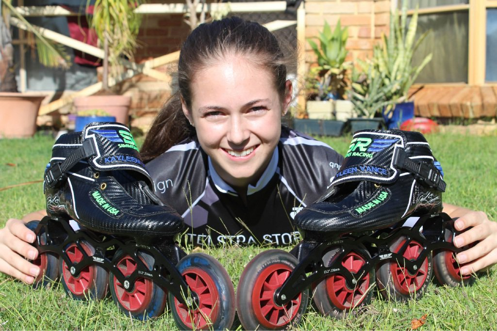 Inline skater Kayleen Vance is back and raring to go.