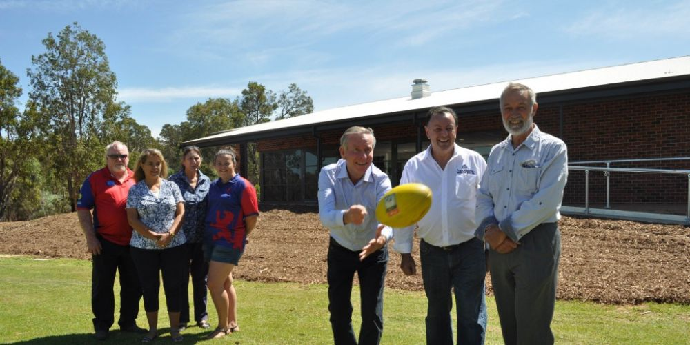 Premier Barnett opens sports pavilion in Shire of Mundaring