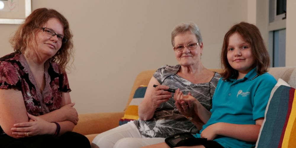 Lily Drage with her mother Vanessa and grandmother Joan Harmon. Picture: Andrew Ritchie        www.communitypix.com.au   d450675