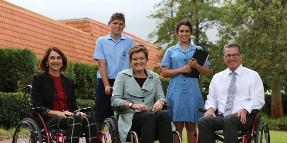 All Saints' College staff take up wheelchair challenge for cause