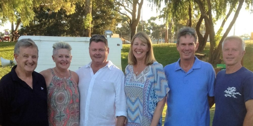 John Connell, Deb Pett, Tim Lyons, Christine and David Stanton and Justin Walawski.