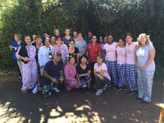 Carinya Care staff surprised residents by wearing their pyjamas to work on April Fool's Day.