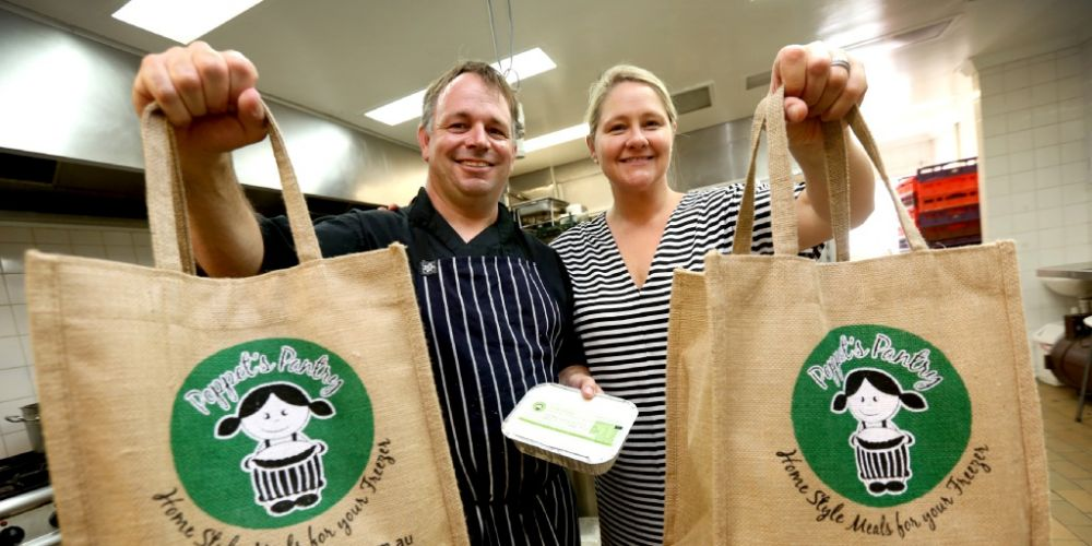 Poppet's Pantry owners Steve and Jane Hitchings. Picture: Matt Jelonek. d449454