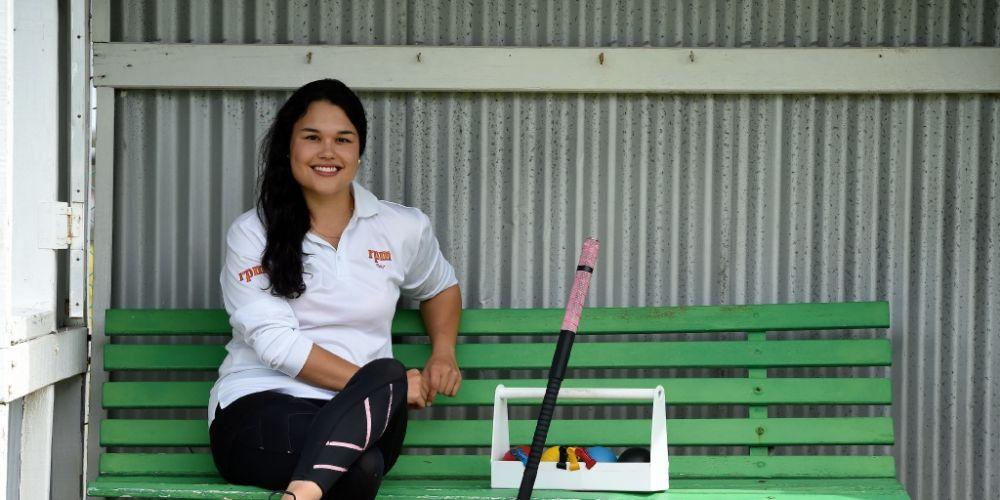 Fleur Brockway is the WA female golf croquet champion. Picture: Jon Hewson d451937