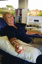Margaret Balls, who has donated blood at every opportunity, will soon hit her 300th donation.