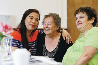 Cynthia Cowley, Jan Ashworth and Patricia Dunn are set to attend the Ladies Night Out event at Fremantle Church of Christ on May 10. Picture: Marie Nirme d400044