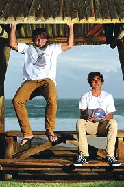 Salty Shoes creator Tom Dempers and Samuel Hermans. Picture: Marcus Whisson d400652