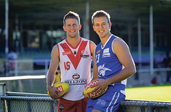 Red hot rivalry... South Fremantle player Craig White and East
