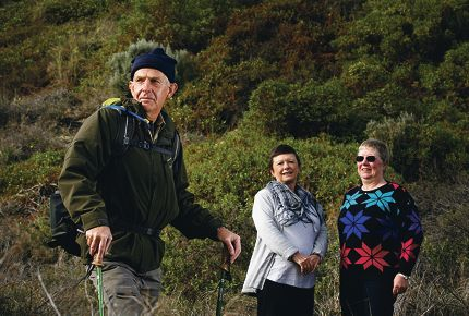 Derek Oldham, pictured with TRYACT founders Sue Dash and Jo Holding, will use his upcoming trek to the top of Mt Kilimanjaro to fundraise for the TRYACT support group. Picture: Marie Nirme www.communitypix.com.au d401767