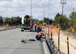 Work on the Hodges Drive upgrade is progressing well and will be completed within a few weeks.