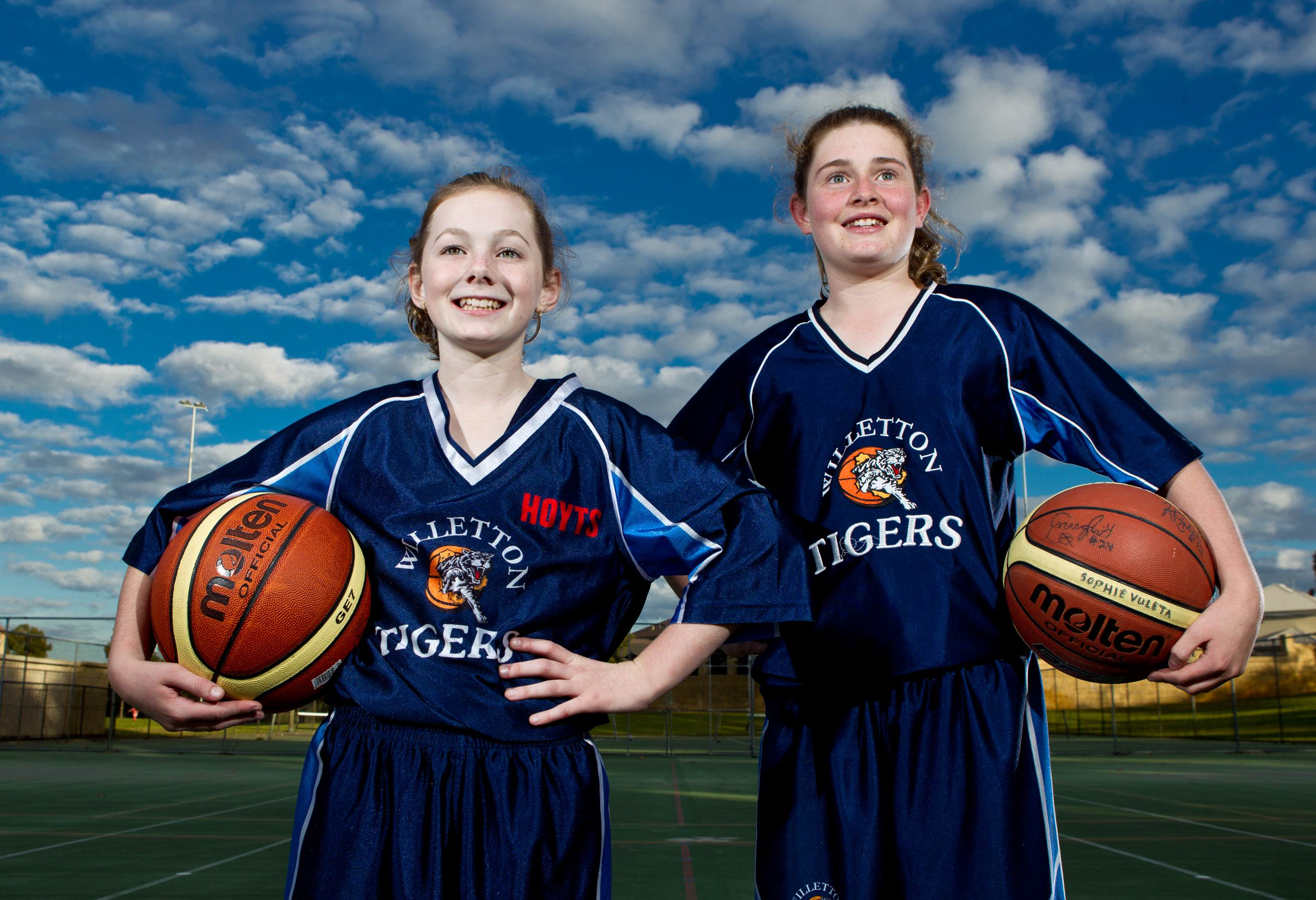 Basketballers Sophie Doran and Sophie Vuleta will represent WA in the National Basketball Championships. Picture: Matthew Poon d402137