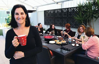 Co-ordinator of the Northern Suburbs Autism Mums' Group, Heidi Brandis, with members.