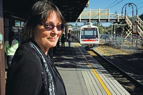 Elizabeth Stafford is concerned about the upcoming closures on the rail system, |saying replacement buses she had caught were crowded and didn't run often enough.