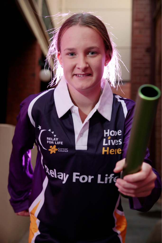 Cydney Collins has done the Relay for Life the last nine years. Picture: Andrew Ritchie        www.communitypix.com.au   d451466