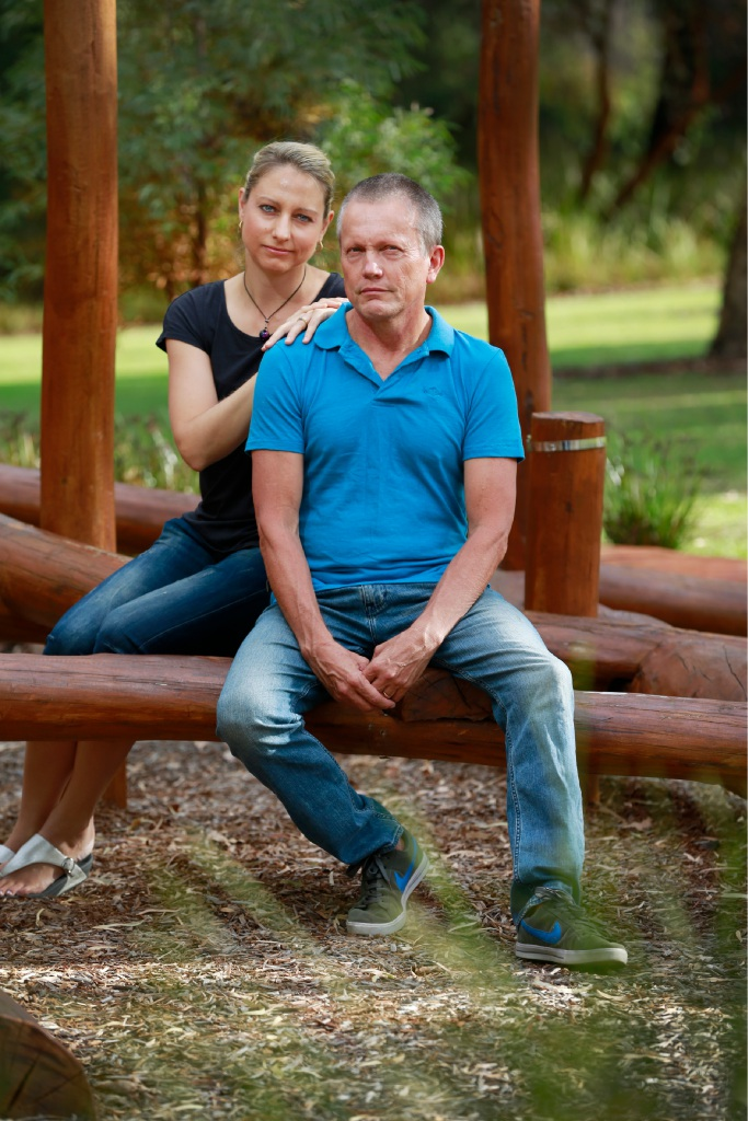Peter and Amy Mickelberg. Picture: Andrew Ritchie  d451191