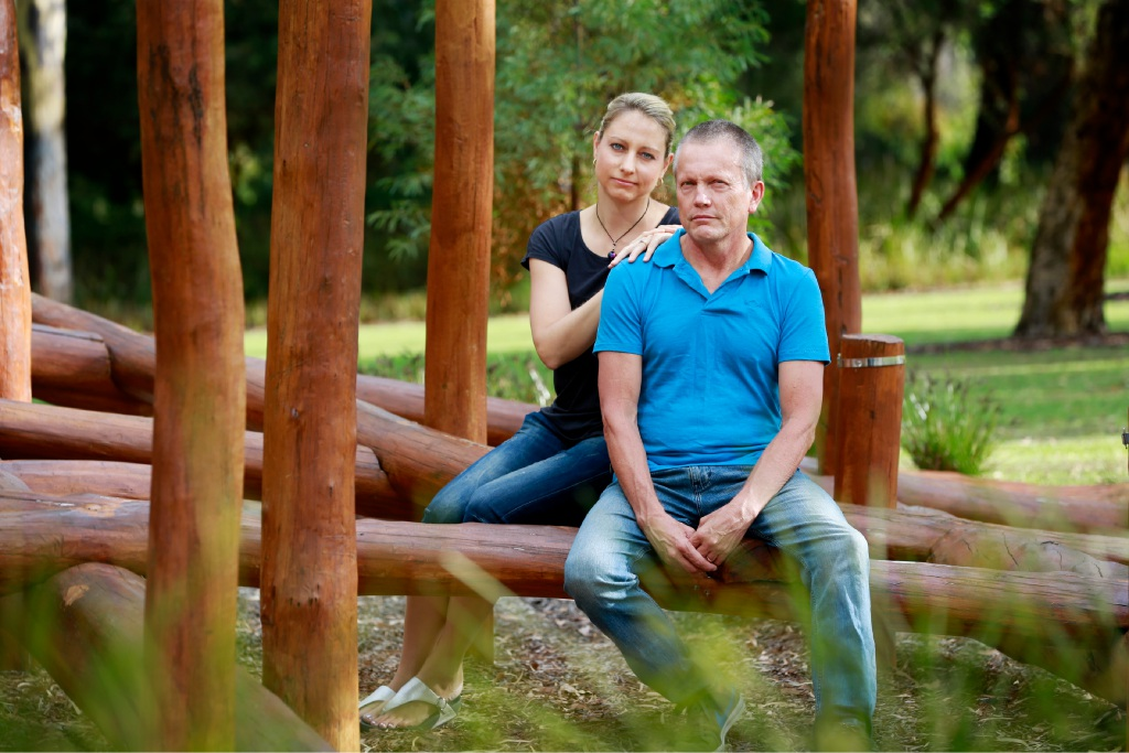 Amy and Peter Mickelberg. Legal Aid WA has dropped its claim against Peter's brother Ray. Picture: Andrew Ritchie. d451191