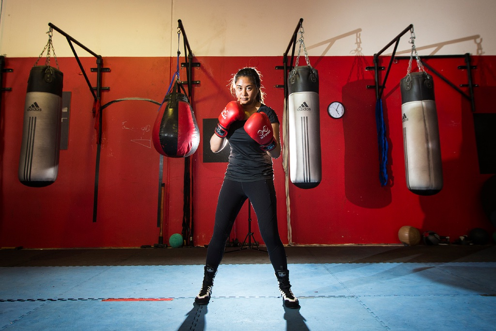 Rhovie Hulleza hopes to punch her way to Australian selection. Picture: Will Russell www.communitypix.com.au   d450737