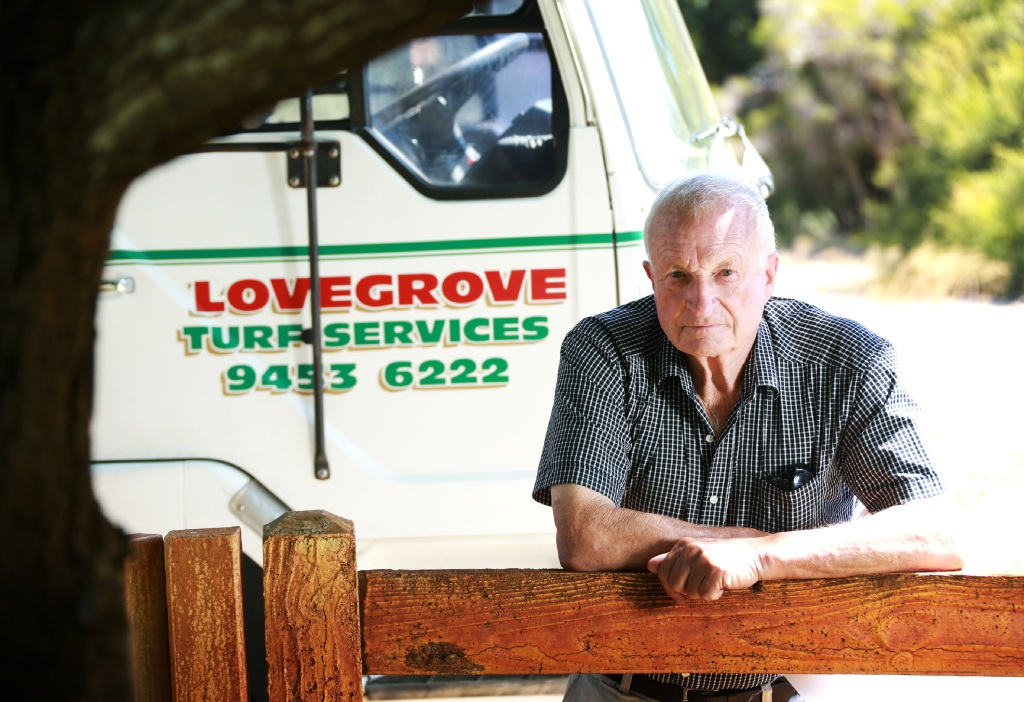 Wattle Grove resident Dick Lovegrove. Picture: David Baylis       d450447