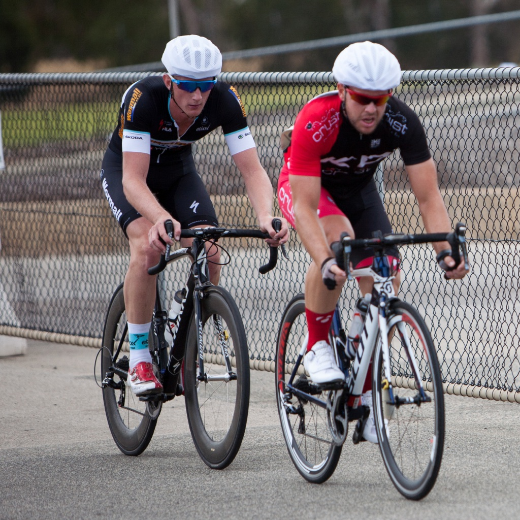 Kurt Harmer in the front of B-grade with eventual winner Jordan Dawson in third.   Picture: Nick Cowie