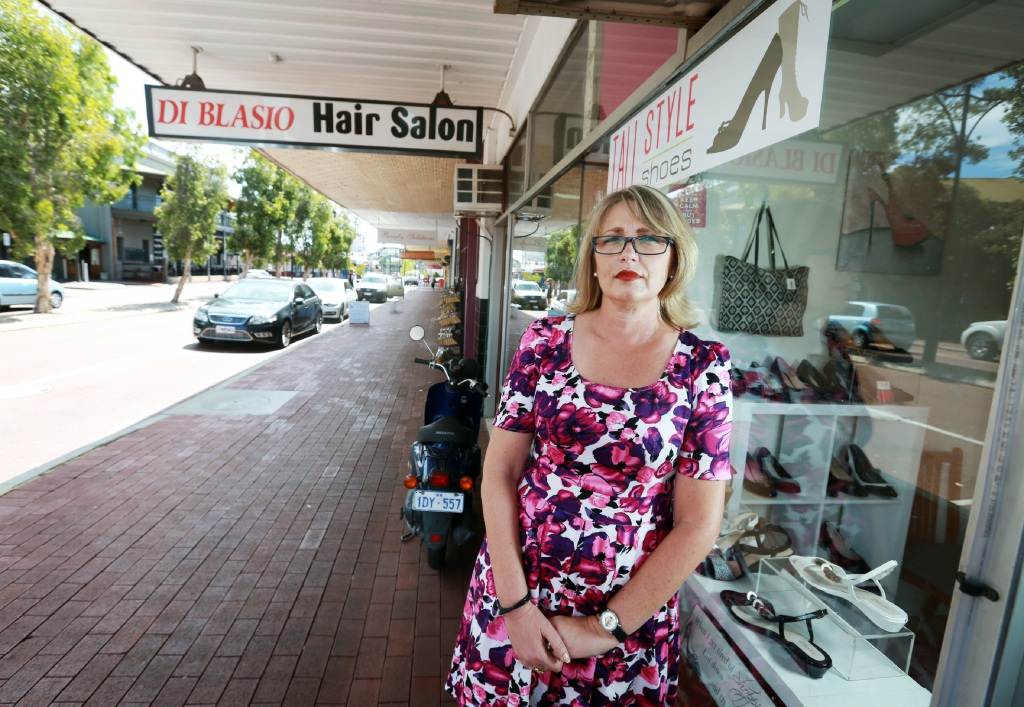 Simone Hegge, owner of Tall Style Shoes in Bassendean. Picture: David Baylis        www.communitypix.com.au   d450135