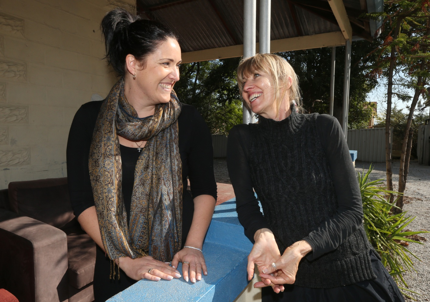 Anita Maxwell and Esther Foundation director Patricia Lavater. Picture: Matt Jelonek        www.communitypix.com.au   d452893