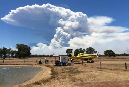 Wheeler Field serves as an important part of aerial firefighting in the region.