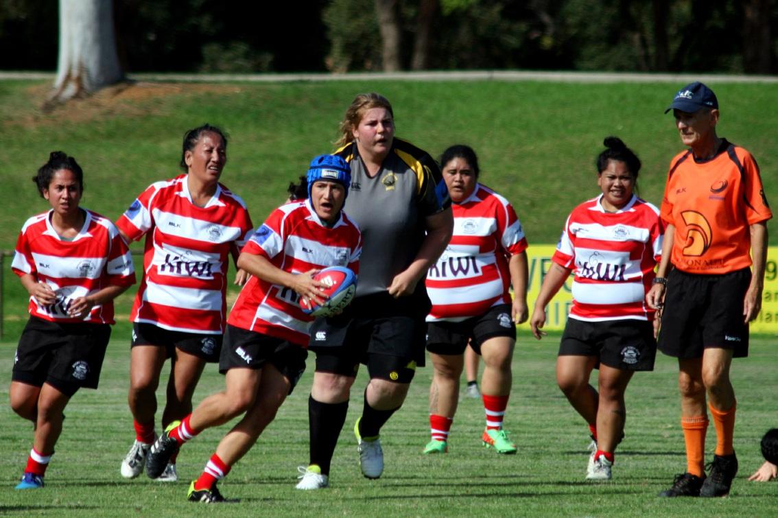 The Armadale ARKS women's team in action against Swan Suburbs last weekend, winning 54-0.