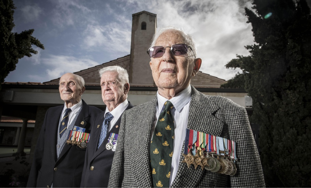 Anzac Day remembrance at The Pines brings back memories for Bill Buttner