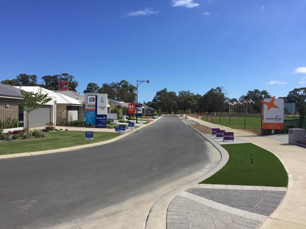 The Baldivis Parks display village.
