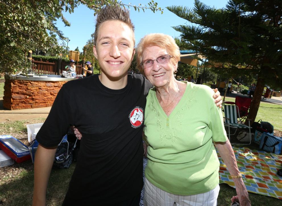 Ryan Maher and June Hocking. Picture: Matt Jelonek    d452624