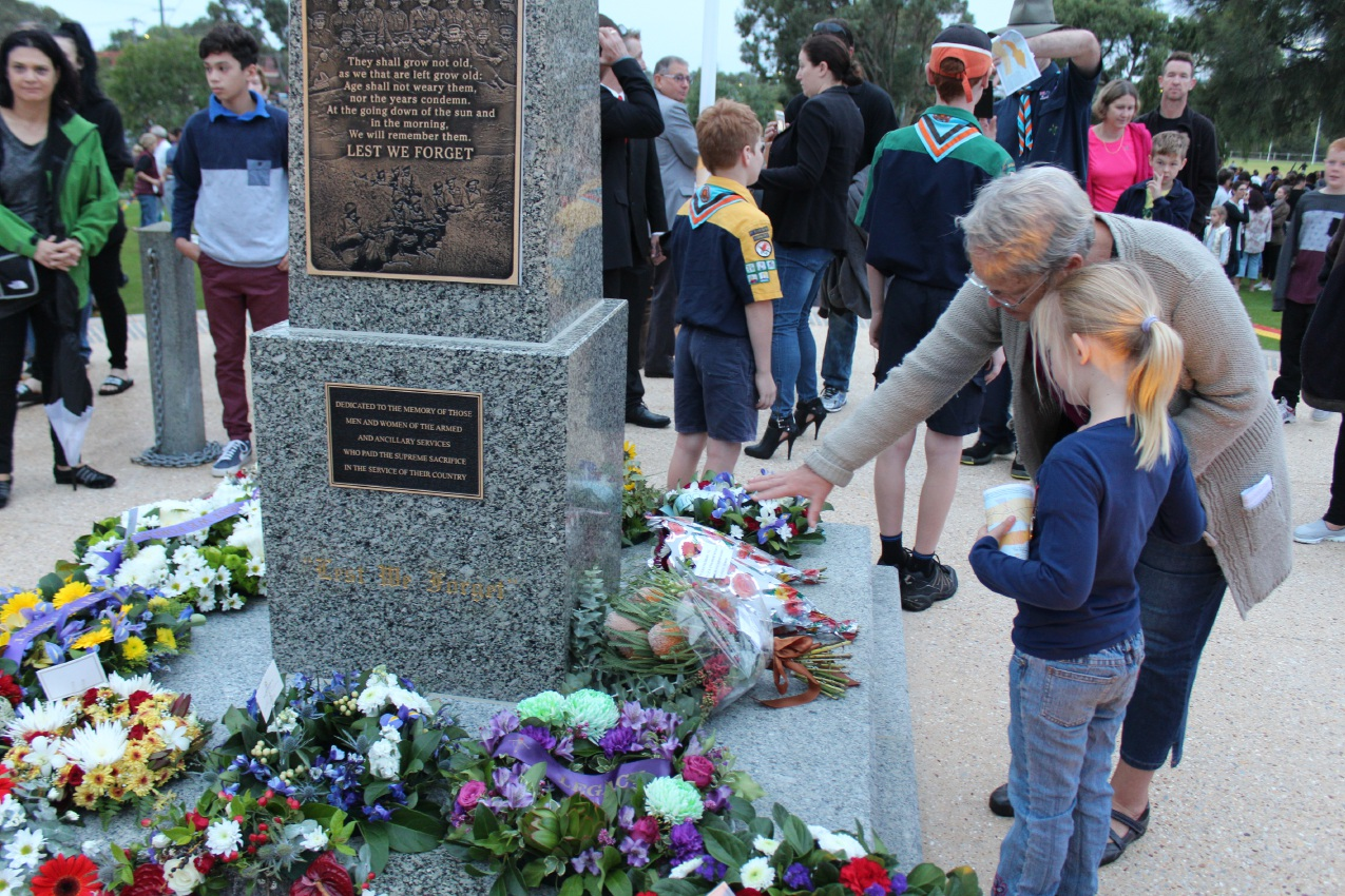 The dawn service at Charles Riley Memorial Reserve.