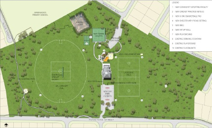 A concept plan of the Penistone Park redevelopment.