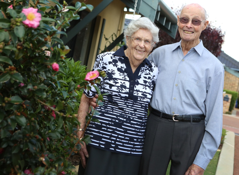 Jess and Jack Eley celebrate 70 years of marriage. Picture: Matt Jelonek    d452937