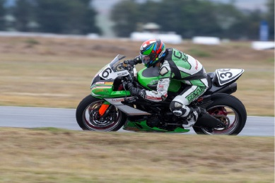 Sam Clarke in action at round three of the Australian |Superbike Championship. Picture: Andrew Gosling