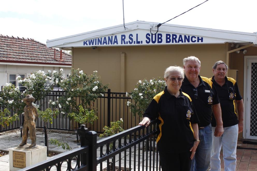 Barbara Danks, Morris Danks and Dave Spillman at Kwinana RSL.