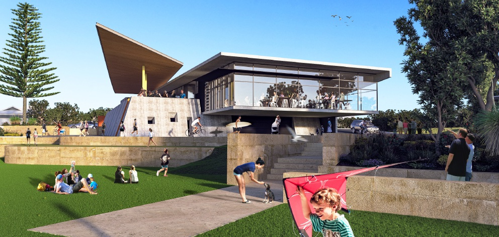 Artist's impression of the beachside cafe.