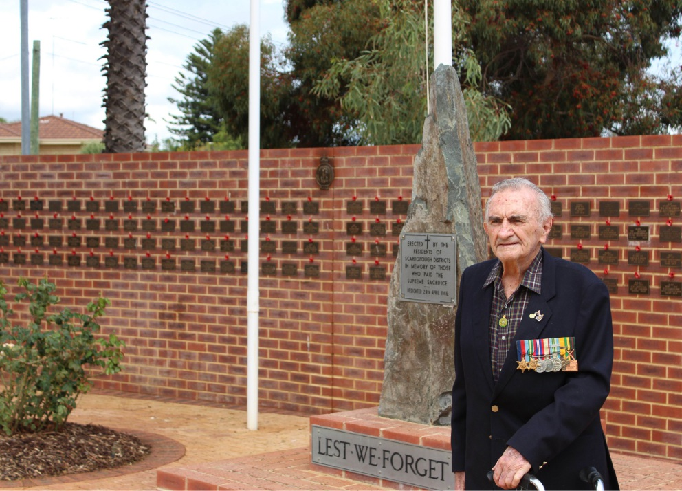 Keith Ireland remembers giving his rations to people starving in North Borneo after World War II.  Picture: Kate Leaver