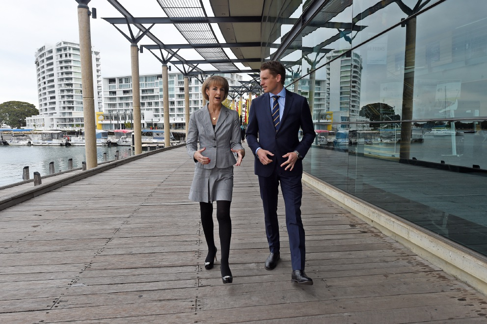 Employment Minister Michaelia Cash and Federal Member for Canning Andrew Hastie. Picture: Jon Hewson