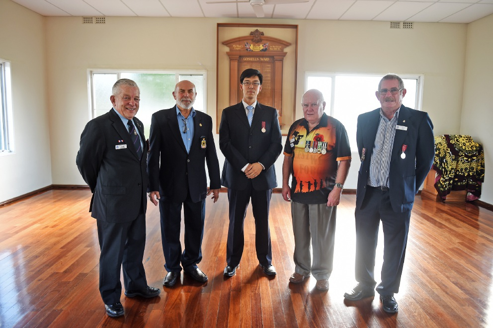 Harry Rosielle, Fred Flor, Pierre Yang, Des Hayes & Fred Batt. Picture: Jon Hewson d452631