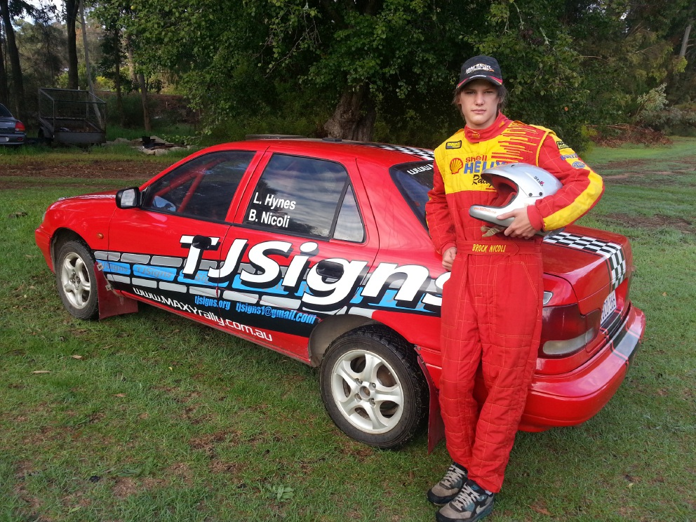 Parkerville driver Brock Nicoli is on his way to race track success.