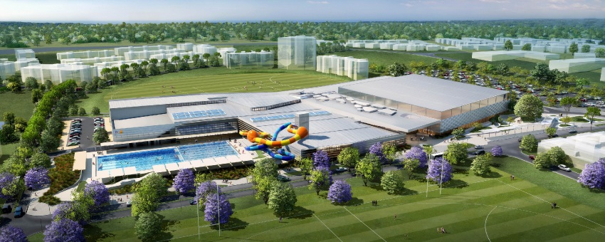 An artist's impression of the $109 million recreation facility.