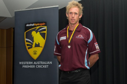 Brendon Diamanti was named joint winner of the Olly Cooley medal.