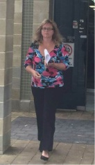 Tanya Botes leaves Mandurah Magistrates Court after pleading guilty.