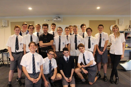 Mazenod College students learnt the secrets to success in the music industry with Kav Temperley and Anna Laverty.