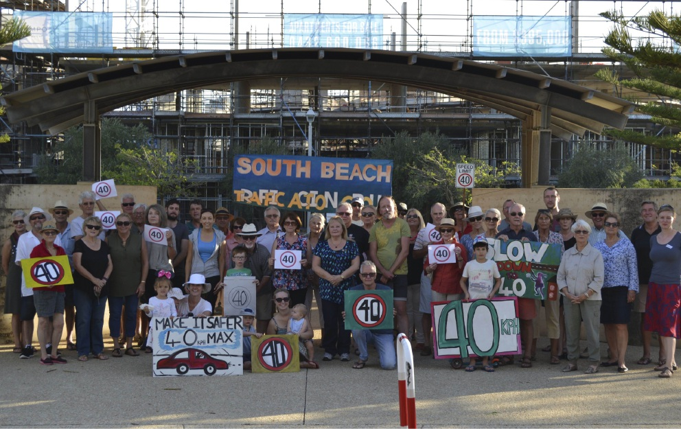 The South Beach Traffic Action Group want speed limit changes to make it safer for locals. Picture: April Bryant