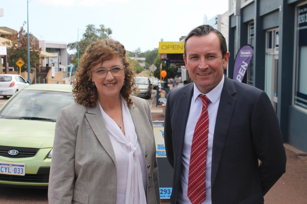 Putting Kalamunda on the front burner: Labor candidate Tracy Destree with Opposition Leader Mark McGowan.