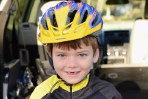 7-year-old Laurence Hoolahan is excited for his big ride