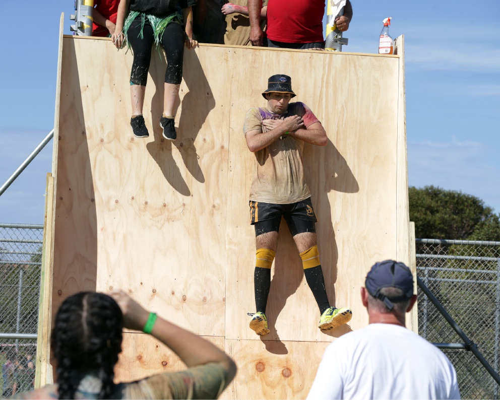 Part of the obstacle course which challenged participants. Picture: Martin Kennealey d451241